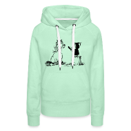 Hoodies & Sweatshirts ~ Women's Premium Hoodie ~ Thelwell Pony learning at school
