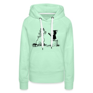 Thelwell Pony learning at school - Women's Premium Hoodie