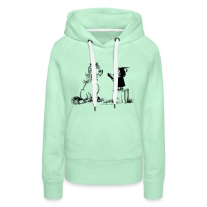 Thelwell Pony learning at school - Frauen Premium Hoodie