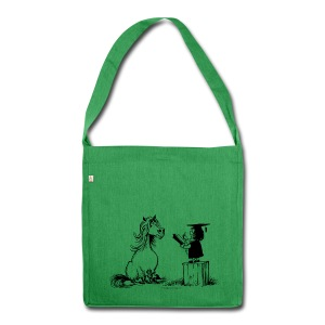 Thelwell Pony learning at school - Shoulder Bag made from recycled material