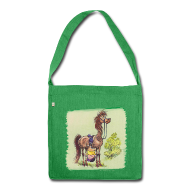 Bags & Backpacks ~ Shoulder Bag made from recycled material ~ Thelwell Pony Rider is headlong