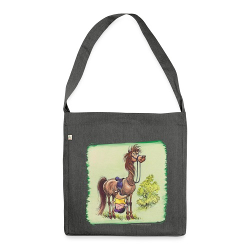Thelwell Pony Rider is headlong - Shoulder Bag made from recycled material