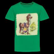 T-Shirts ~ Teenager Premium T-Shirt ~ Thelwell Pony Rider is headlong