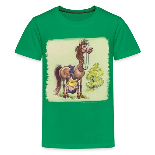 Thelwell Pony Rider is headlong - Teenager Premium T-Shirt