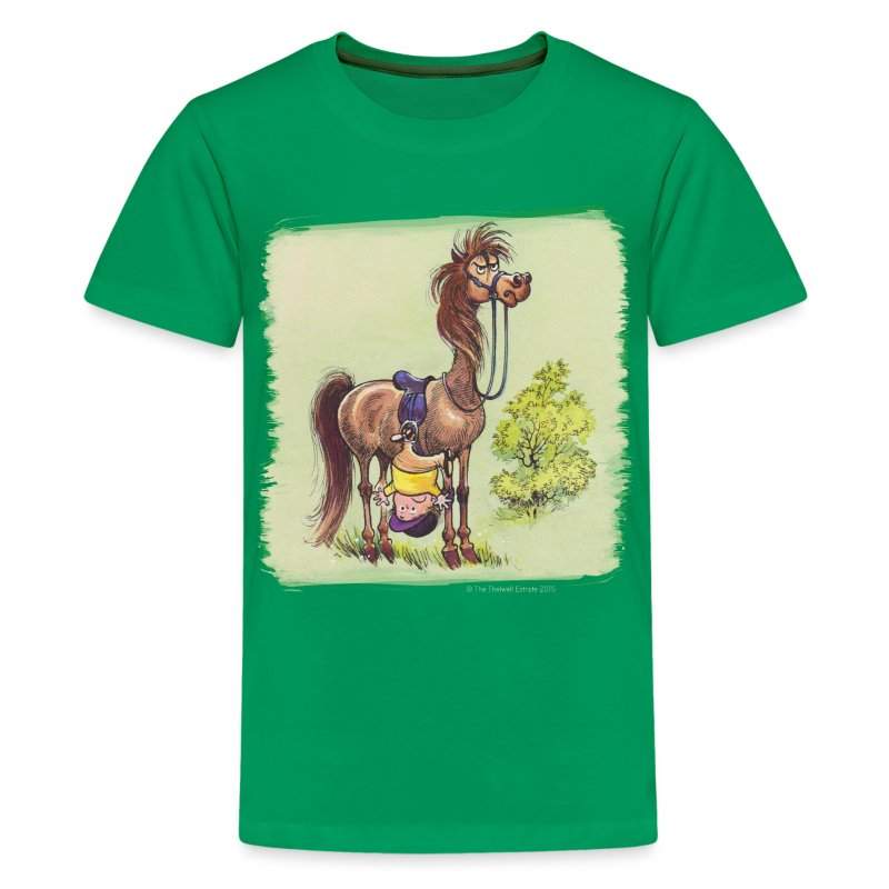 Thelwell Pony Rider is headlong - Teenager Premium T-Shirt