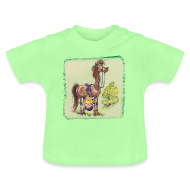 Baby Shirts  ~ Baby T-Shirt ~ Thelwell Pony Rider is headlong