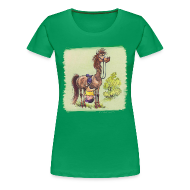 T-Shirts ~ Women's Premium T-Shirt ~ Thelwell Pony Rider is headlong