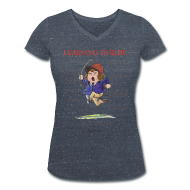 T-Shirts ~ Women's V-Neck T-Shirt ~ Thelwell Learning to ride