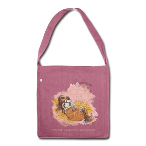 Thelwell Pony is ill - Shoulder Bag made from recycled material