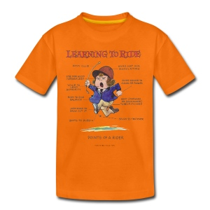 Thelwell Learning to ride - Teenage Premium T-Shirt