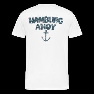 Hamburg Ahoy Anker (Vintage Blau)  S-5XL T-Shirt - Männer Premium T-Shirt
