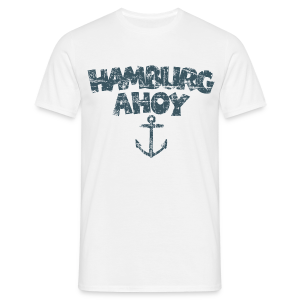 Hamburg Ahoy Anker (Vintage Blau) T-Shirt - Männer T-Shirt