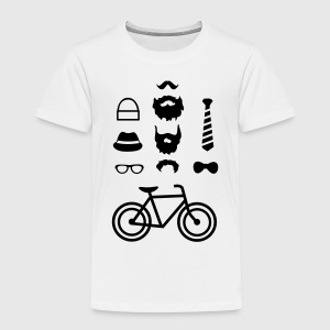 Hipster outfit T-shirts - Børne premium T-shirt