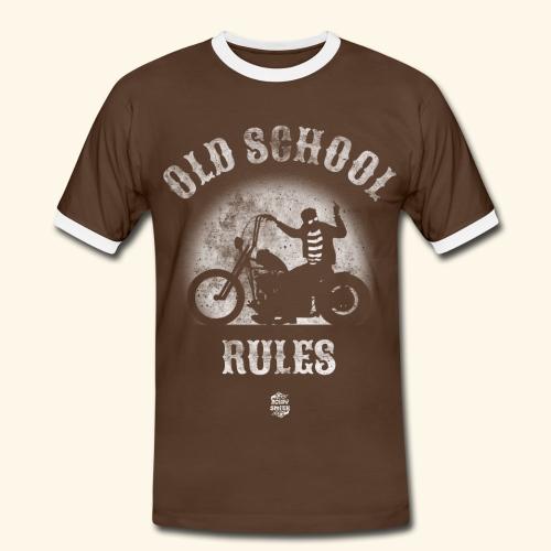 Old School Rules ribetes - Camiseta contraste hombre