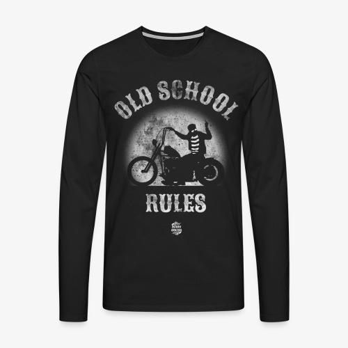 Old School Rules manga larga - Camiseta de manga larga premium hombre