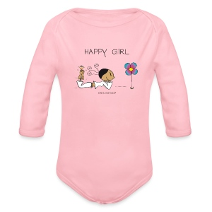 Happy Girl  - Baby Bio-Langarm-Body