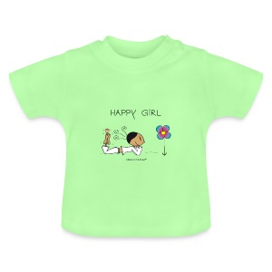 Happy Girl Rüschen T-Shirt - Baby T-Shirt