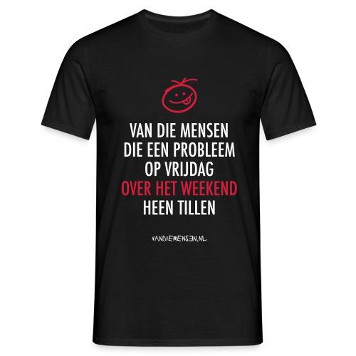 Heren shirt, standaard - Over het weekend - Mannen T-shirt