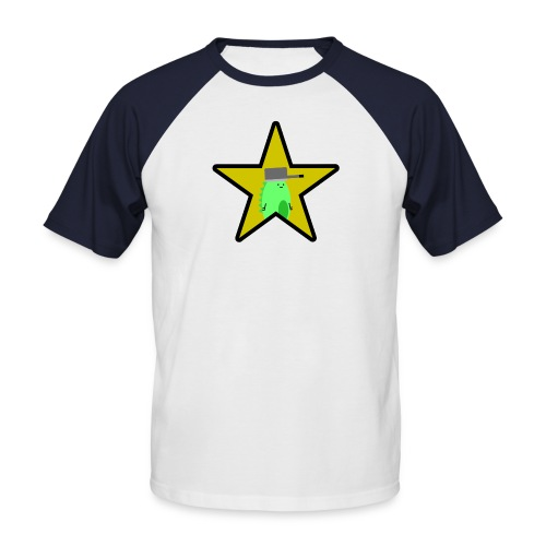 Derposaurus Gold Star Men's Baseball T-Shirt - Men's Baseball T-Shirt