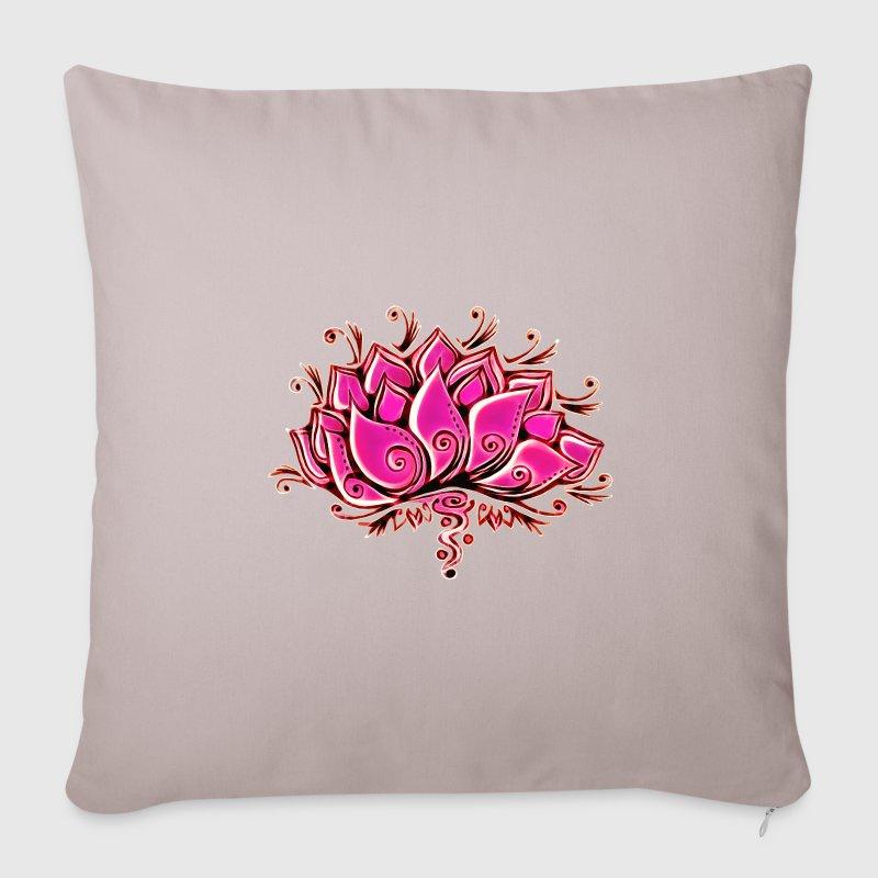 Housse de coussin lotus fleur bouddhisme spiritualit - Fleur de lotus bouddhisme ...
