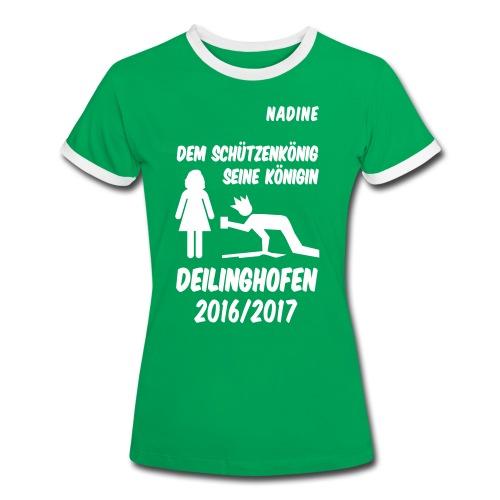 Königin NADINE - Frauen Kontrast-T-Shirt