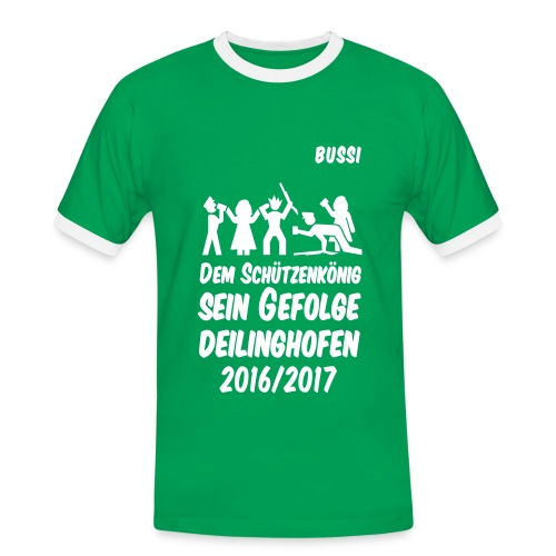 Gefolge BUSSI - Männer Kontrast-T-Shirt