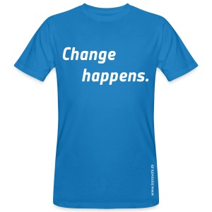 Bio T-Shirt - change happens - Männer Bio-T-Shirt