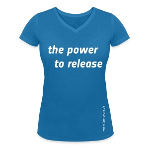 Shirt - the power to release - Frauen T-Shirt mit V-Ausschnitt