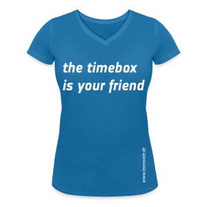 Shirt - the timebox is your friend - Frauen T-Shirt mit V-Ausschnitt