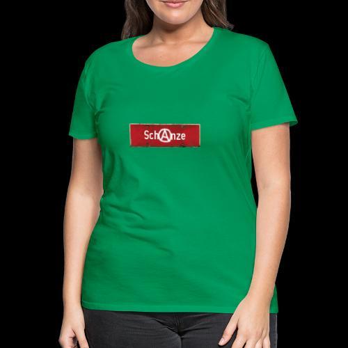"""Schanze-Schild mit Anarcho """"A"""" - Frauen Premium T-Shirt"""