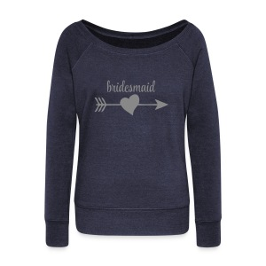 Bridesmaid Hoodies & Sweatshirts - Women's Boat Neck Long Sleeve Top