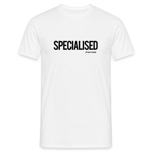 Specialised White tee! - Men's T-Shirt