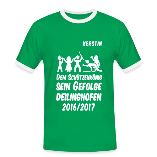 Gefolge KERSTIN - Männer Kontrast-T-Shirt