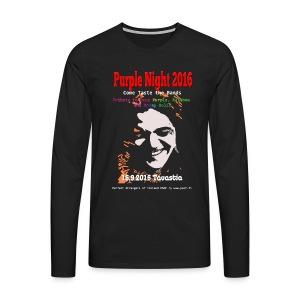 Purple Night 2016  - Miesten premium pitkähihainen t-paita