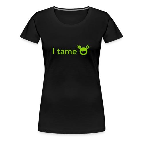 mySugr T-Shirt: I tame - Frauen Premium T-Shirt