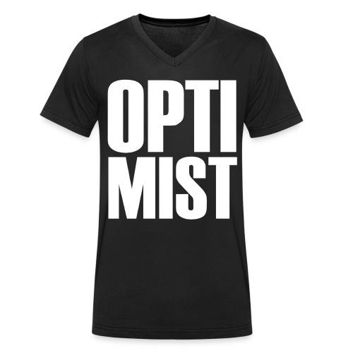 Optimist - Männer Bio-T-Shirt mit V-Ausschnitt von Stanley & Stella