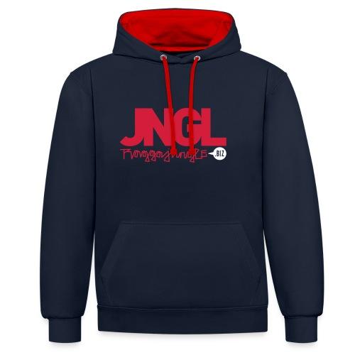 Hoodie JNGL RJ.biz black/red - Contrast Colour Hoodie