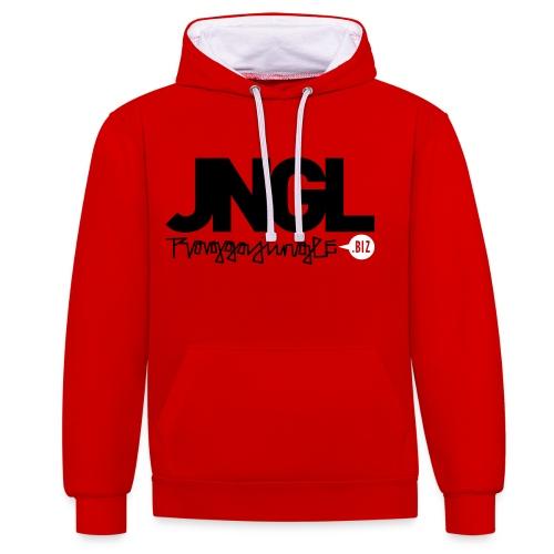 Hoodie JNGL RJ.biz red - Contrast Colour Hoodie