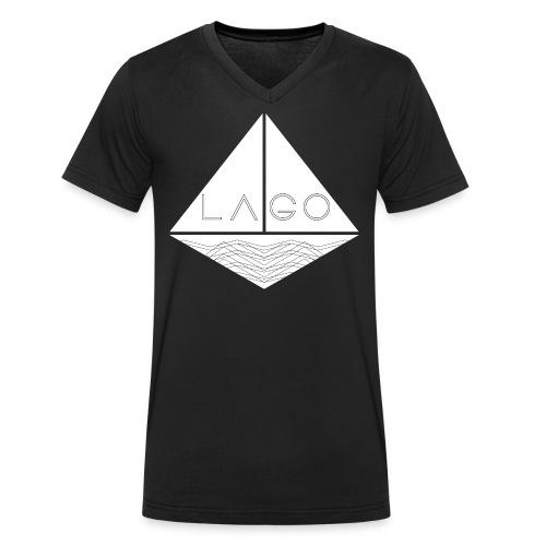 Lago Boot T- Shirt V- Neck black (Slimfit) - Männer Bio-T-Shirt mit V-Ausschnitt von Stanley & Stella