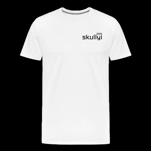 Adult skullyi1234 Branded T-Shirt (White and Black) - Men's Premium T-Shirt