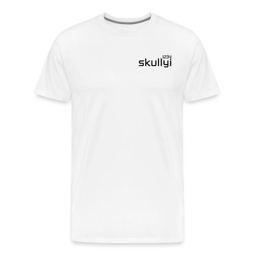 Adult skullyi1234 Branded T-Shirt (White and Black) - Men's Premium T-Shirt