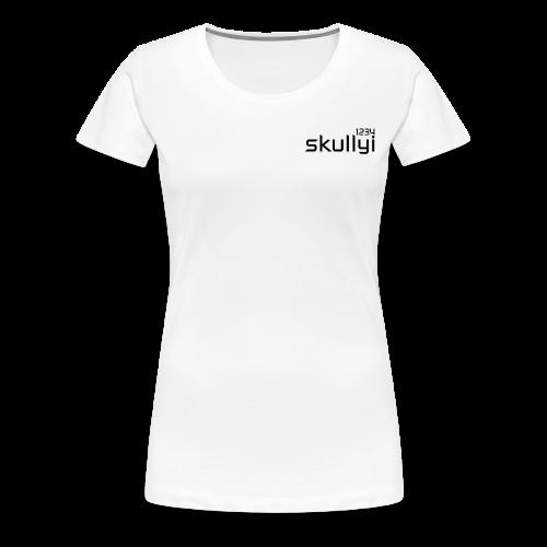 Women's skullyi1234 Branded T-Shirt (White and Black) - Women's Premium T-Shirt