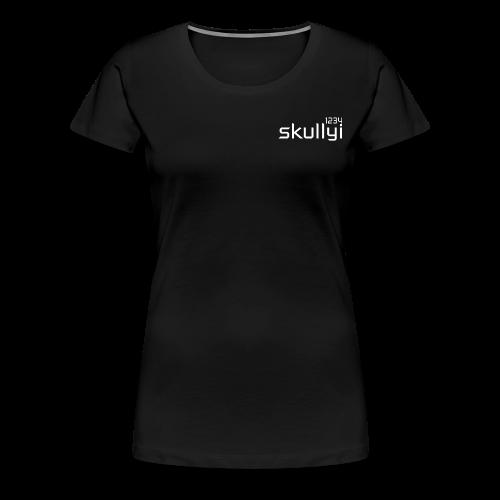 Women's skullyi1234 Branded T-Shirt (Black and White) - Women's Premium T-Shirt