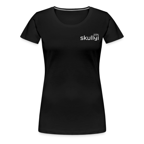 Women's skullyi1234 Branded T-Shirt (Black and White) - Women's Premium T-Shirt