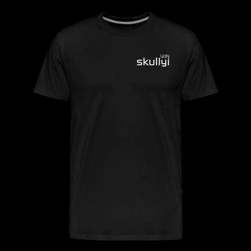 Men's skullyi1234 Branded T-Shirt (Black and White) - Men's Premium T-Shirt