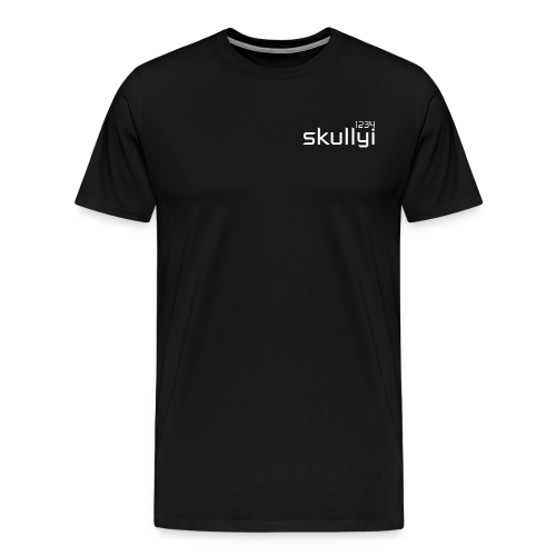 Men's skullyi1234 Branded T-Shirt (Black and White) - Men's Premium T-Shirt