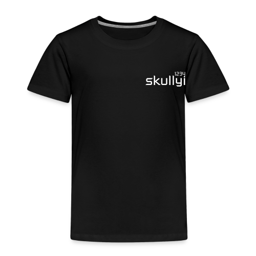 Kid's skullyi1234 Branded T-Shirt (Black and White) - Kids' Premium T-Shirt