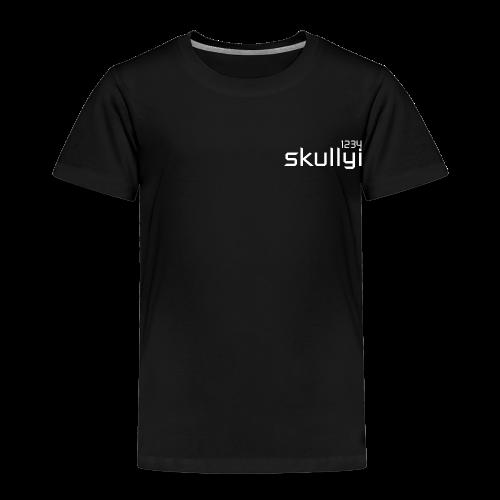 Kid's skullyi1234 Branded T-Shirt (Black and White) - Kids' Premium T-Shirt