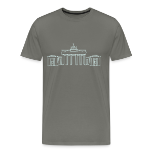 Brandenburger Tor Berlin (reflect) - Männer Premium T-Shirt
