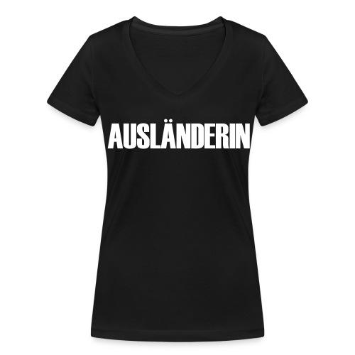 Ausländerin - Frauen Bio-T-Shirt mit V-Ausschnitt von Stanley & Stella